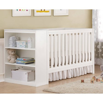 Dorel Asia Baby Relax Ayla White 2-in-1 Convertible Crib with Storage