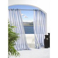 Outdoor Decor Escape Stripe Indoor/Outdoor Grommet Top Window Sheer -