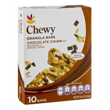 Ahold Chocolate Chunk Chewy Granola Bars - 10 CT