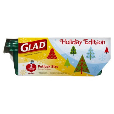 Glad Holiday Edition Potluck Size Food Storage Containers with Lids 2