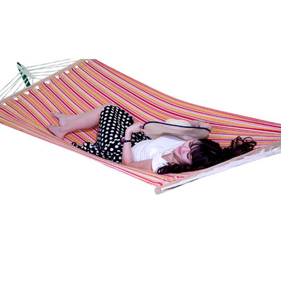 Sterling Outdoor Extra Wide Hammock in a Tropical pattern
