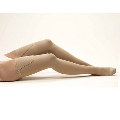 Anti Embolism Stockings Truform Anti-Embolism Thigh High Closed-Toe Stockings, Beige, Small