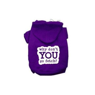 Mirage Pet Products You Go Fetch Screen Print Pet Hoodies Purple Size Sm (10)
