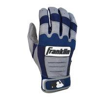 Franklin Sports 10563F2 CFX Pro Youth Medium Batting Gloves in Grey/Navy