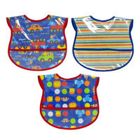 Hamco 3 Pack Boy Neat Solutions Water Resistant Coverall Bib Set
