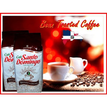 Santo Domingo Whole Roasted Bean Dominican Coffee 2 Bags / Pounds Pack