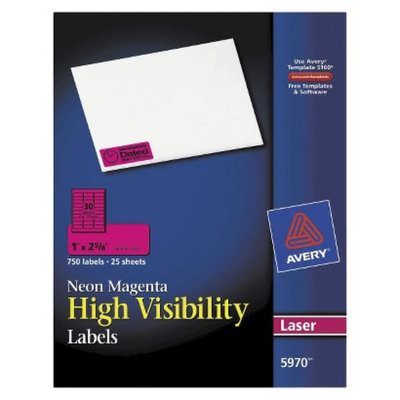 Avery 1 x 2-5/8 High-Visibility Laser Labels