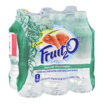 Fruit2O Flavored Water Beverage Natural Watermelon - 6 CT