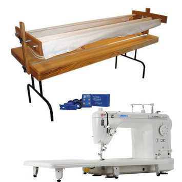 Juki TL2000Qi 9 Long-Arm Quilting Machine w/ Bradley Ultra Quilter Frame, Light & Quilter Cruise Control Stitch Regulator