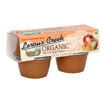 LeRoux Creek Organic Apple & Apricot Sauce, 4-Ounce, 4-Count Cups (Pack of 6)