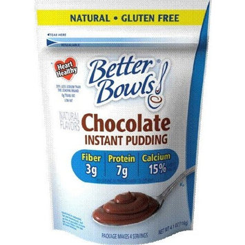Better Bowls, Chocolate Pudding, 4.1 Ounce (Pack of 7)