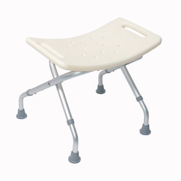 Mabis Duro-Med Blow-Molded Folding Bath Seat without Back w/ Adjustable Legs