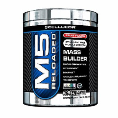 Cellucor M5 Reloaded Mass Builder, Fruit Punch, 1.65 lbs