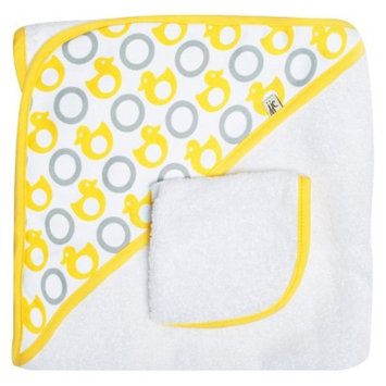 JJ Cole Hooded Towel - Yellow Ducks