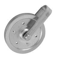 Ideal Security Inc. 4 in. Pulley with Fork and Bolt