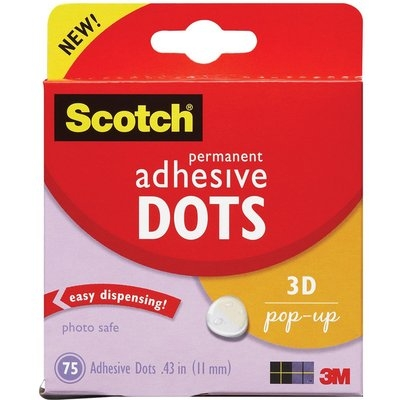 3m 3M 3D Pop-up Adhesive Dots (Pack of 75)
