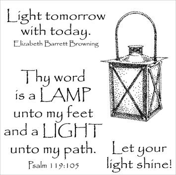 Paradise Eximport, Inc. Stampers Anonymous Inky Antics Clear Stamp Set, Shining Lantern