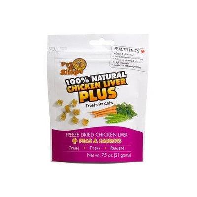 Pet N' Shape Freeze Dried Chicken Liver Plus Peas and Carrots Cat Treats - 0.75 oz. Set of 48