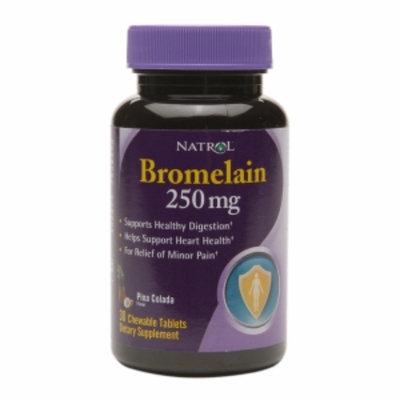 Natrol Bromelain Pina Colada 250 mg - 30 Chewable Tablets