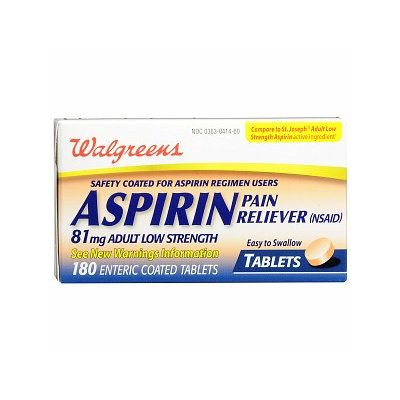 Walgreens Aspirin 81 mg  Adult Low Strength Tablets
