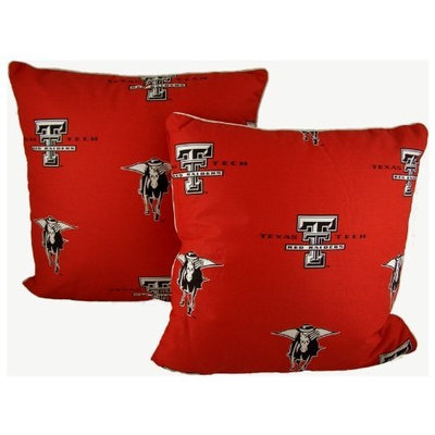 College Covers Texas Tech - Decorative 2 Pillow Set ( 16x16 Inch)