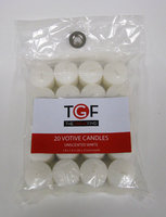 Dynamic Designs Essential Home 20 Pack Unscented White Votives - dynamic designs
