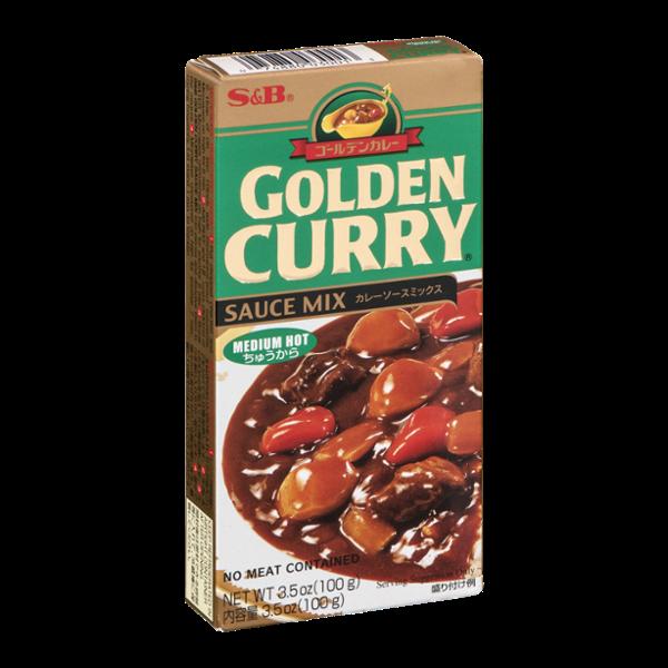 S&B Golden Curry Sauce Mix Medium Hot