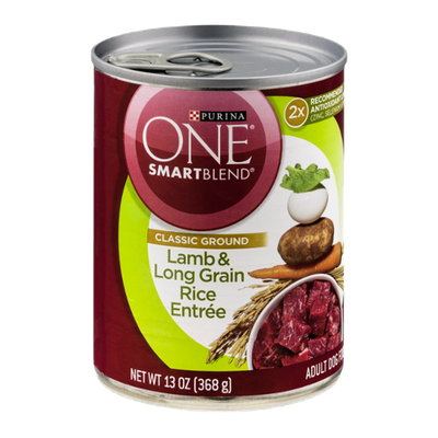 Purina One Smartblend Adult Dog Food Lamb & Long Grain Rice Entree