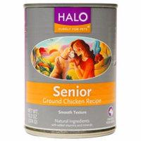 Halo, Purely For Pets Dog Senior, Ground Chicken, 13.2 oz