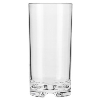 Prodyne Polycarbonate Tall Cooler Glass Set of 6