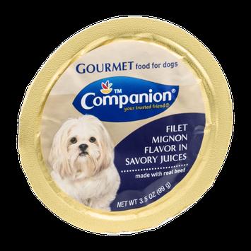 Companion Gourmet Food for Dogs Filet Mignon Flavor