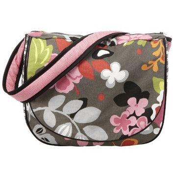 Hoohobbers Messenger Diaper Bag, Sleek Slate