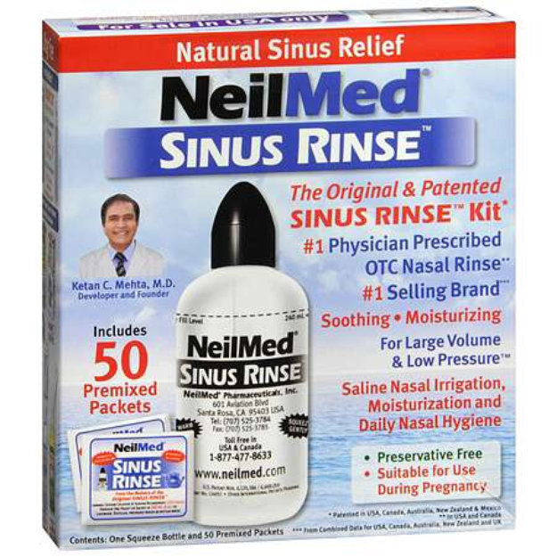 Instructions for nasal saline rinses | the sinus and allergy center.