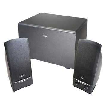 Cyber Acoustics Three Piece Subwoofer and Satellite Computer Speaker System
