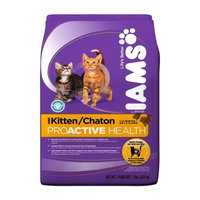 IAMS Kitten Proactive Health Dry Cat Food, 2-Pound Bags (Pack of 8)