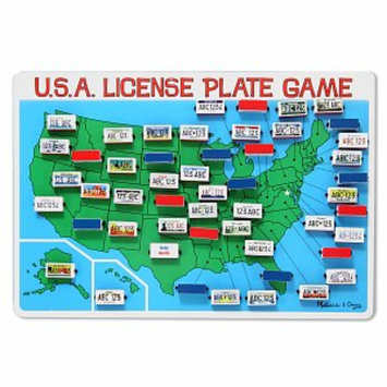 Melissa & Doug License Plate Game - As Shown
