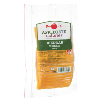 Applegate Naturals Cheese Cheddar Medium
