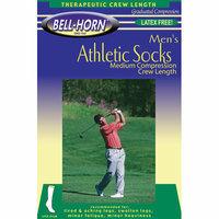 Bell-Horn Men's 20-30 mmHg Athletic Sock in White