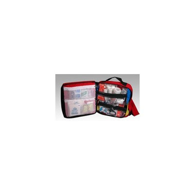 Gift Warehouse Back Pack First Aid Kit Red (case w/supplies)