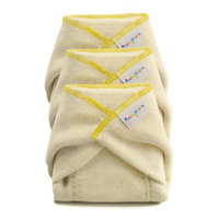 BabyKicks 3 Pack Hemparoo Fleece Prefolds, Golden Thread, X-small