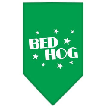 Mirage Pet Products Bed Hog Screen Print Bandana for Pets, Large, Emerald Green