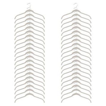 Joy Mangano Huggable Hangers 40-Pc. Shirt Hangers - White Linen