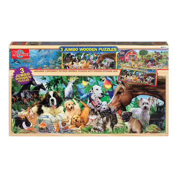 Shure Animals Jumbo Wooden Boxed Puzzles