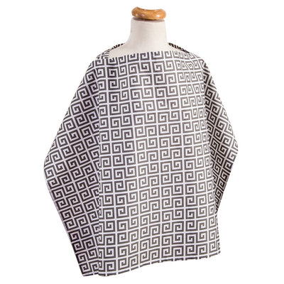 Test Trend Lab Gray Greek Key Nursing Cover