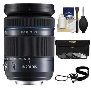 Samsung 18-200mm f/3.5-6.3 NX Movie Pro ED OIS Zoom Lens (Black) with 3 UV/ND8/CPL Filters + Accessory Kit for Galaxy NX, NX30, NX210, NX300, NX2000, NX3000 Cameras