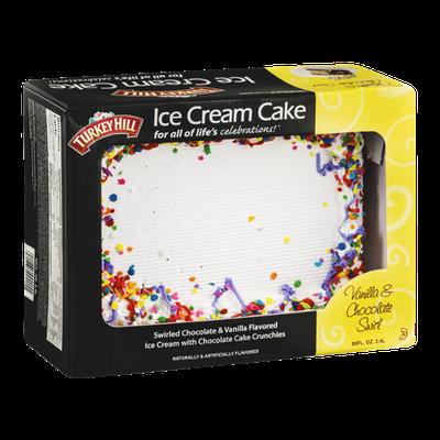 Turkey Hill Ice Cream Cake Vanilla & Chocolate Swirl