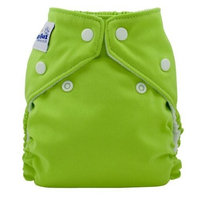 FuzziBunz Perfect Size Cloth Diaper, Apple Green, Small 7-18 lbs (Discontinued by Manufacturer)