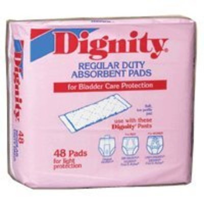 Dignity Briefs Dignity Regular Duty Pads - 48 Pads / Bag, 8 Bags / Case