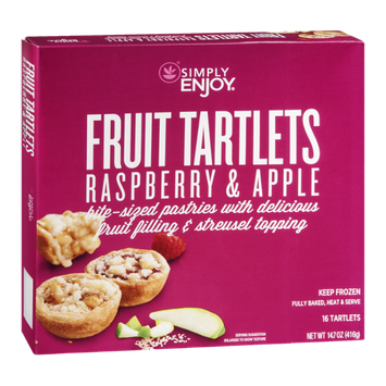 Ahold Simply Enjoy Fruit Tartlets Raspberry & Apple - 16 CT