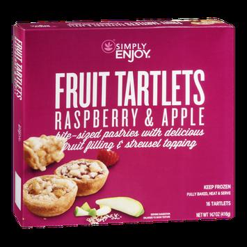 Ahold Simply Enjoy Fruit Tartlets Raspberry & Apple - 16 CT